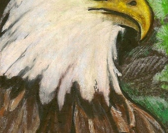 Eagle ACEO Card OOAK Original Artwork by Rushing