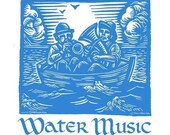 Water Music Tshirt, Small, Medium, Large, XLarge