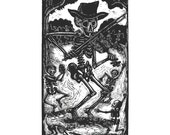 Skeleton Fiddler Calavera Greeting Card