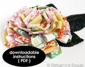 Fabric Scrap Flower--PDF Tutorial