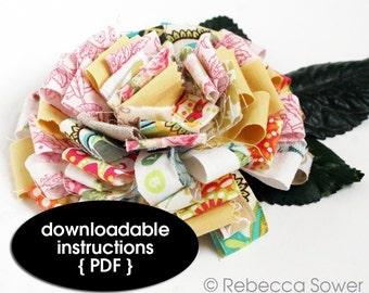 Fabric Scrap Flower--PDF Tutorial