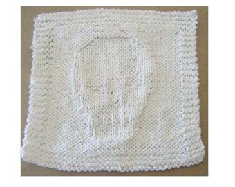 Knitted Skull Face or Dish Cloth