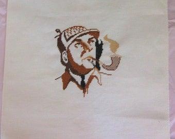 Sherlock Holmes Portrait Cross Stitch