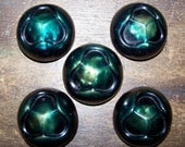 VINTAGE 5 Pc LARGE Celluloid Buttons High Domed