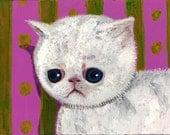Print  Sad allergic kitty cat