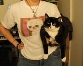 Sad allergic cat t-shirt unisex cotton