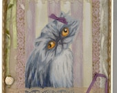 Grey persian postcard shadow box dusty rose bow sweetness