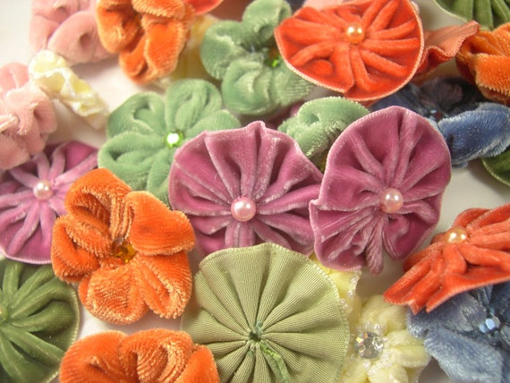 Velvet Flowers Millinery Sewing Millenary Sew On Glue On