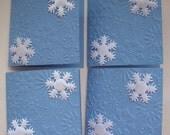 Embossed Snowflake Mini Cards