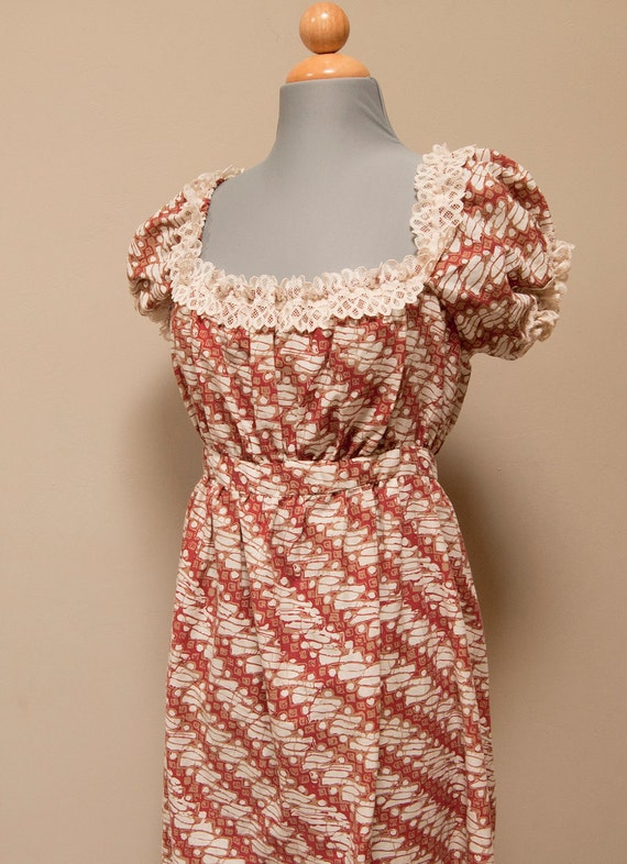 Vintage 70s Peasant-Style Empire Dress