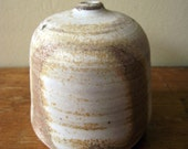 FREE shipping Raw and Organic Anagama wood fired porcelian O Birch Bottle