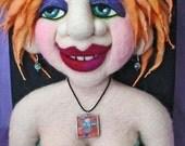 Art Doll / Bead Display / Needle Felted / Needle Felting / Sculpture / Tutorial / Pattern / Needlecraft
