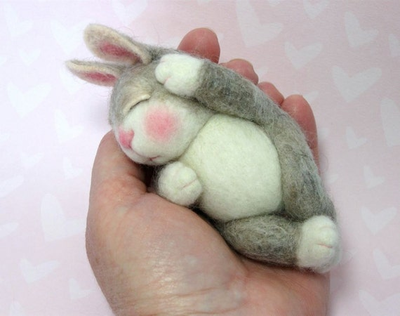PDF CLASS Needle Felted Animal Wool BUNNY Class (Companion kit available and sold separately) Barby Anderson