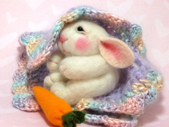 Needle Felted Animal Tutorial / Needle Felted Pattern / Needle Felted Bunny / Needle Felting / Wool Roving / Wool Fleece / Pattern