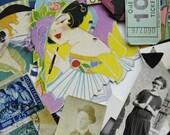 Vintage Ephemera Pack for Altered Art Flapper Style