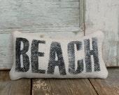 Beach -  Burlap Feed Sack Doorstop - nextdoortoheaven