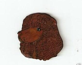 IRISH WATER SPANIEL DOG PIN BROOCH