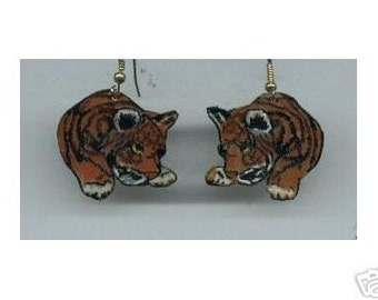 TIGER  EARRINGS CUB WILD CAT ZOO TO YOU