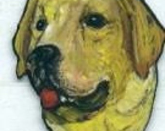 LABRADOR RETREVER dog pin/brooch