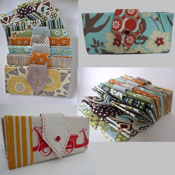 Checkbook Wallet Cover Choose your Fabrics  Made To Order