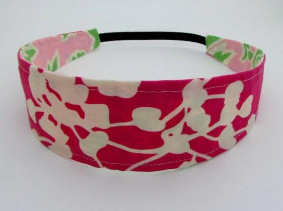 Handmade Reversible Cotton Headband - Pink Pods