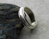 Domed Spinner Ring in Sterling Silver - Made to Order