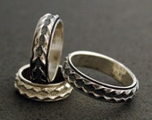 Corrugated Spinner Ring in Sterling Silver - Made to Order