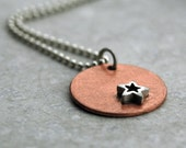 Star Necklace - Sterling Silver on Copper - Made Upon Order