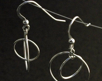 Double Circle Mobile Earrings in Sterling Silver - Ready to Ship