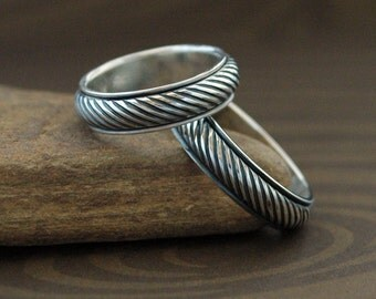Endless String - Handmade Spinning Ring in Sterling Silver - Made to Order