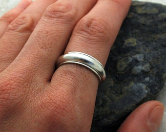 Spinner Ring in Sterling Silver - Rounded Profile - Made to Order