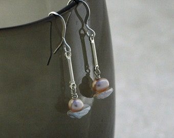Pearl and Sterling SIlver Earrings - Ready to Ship