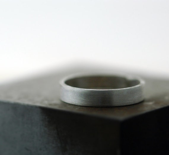 Handmade Sterling Silver Ring - Custom Band - Made to Order in Your Size - Choose Your Finish