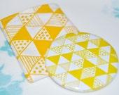 Yellow Triangle Pocket Mirror