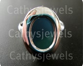 Polished Silver Smooth Edged Adjustable Rings