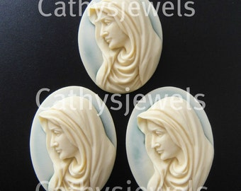 The Lords Mother Cameo  40x30 Set Of Three
