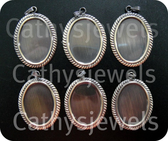 Antique Gold Orleans Cameo Settings Six Pieces 25x18