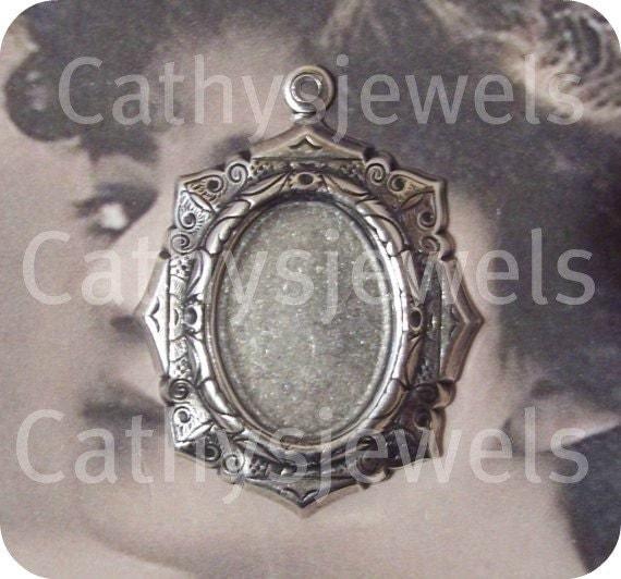 Six Pieces of Antique Silver 18X13 Octagon Bezel