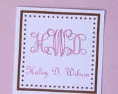 Personalized Square gift/calling cards- set of 12