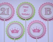 Personalized Cupcake Toppers - Set of 12