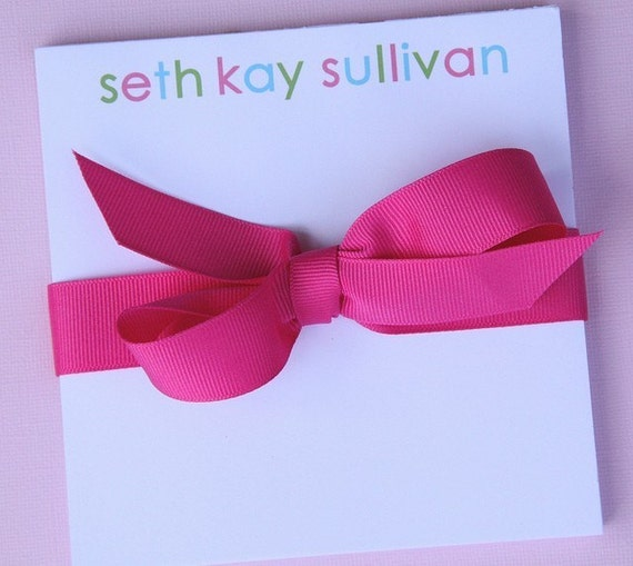 Personalized Note Pad - 5.5 x 5.5 Multi-Colored Name