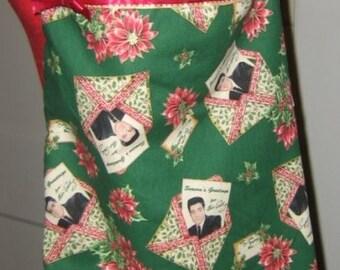 Festive Holiday Elvis Tote Bag