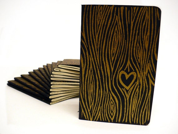 True Love -- Gocco Printed Moleskine Cahier Pocket Notebook