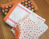 Pink and Apricot Baby Gift Set of 3