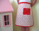 Childrens Apron - red, gold