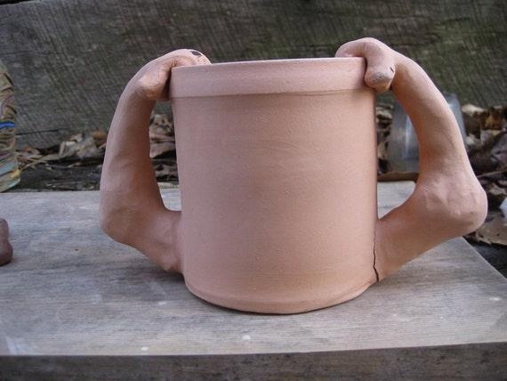 small ceramic goatse planter
