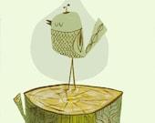 Bird Log.  Open edition print by Matte Stephens.