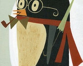 Penguin.  Limited edition 11x14 print by Matte Stephens.