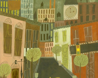 Greenwich Village, a limited edition print by Matte Stephens