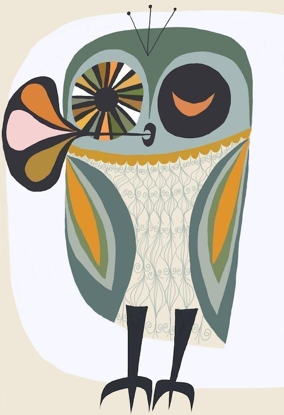 Owl  13 x 19 print limited edition